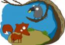 Fábulas de Esopo y su Moraleja El Cuervo y el Zorro