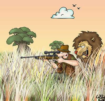 Fábulas de Esopo y sus Moralejas El cazador tímido y el León