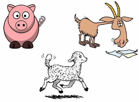 El Cerdo el Cordero y la Cabra Fábulas de Samaniego