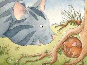 Fábulas de Esopo y sus Moralejas El gato y el ratón