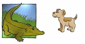 El Perro y el Cocodrilo Fábulas de Samaniego