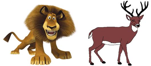 Fábulas de Esopo y sus Moralejas El León y el Ciervo