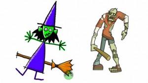 Bruja y Zombie