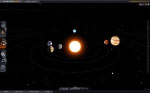 Solar System Scope Simulador de nuestro Sistema Solar