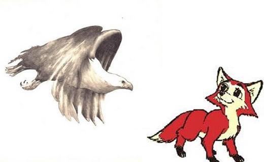 El águila de ala cortada y la zorra Fábulas clásicas con Moralejas
