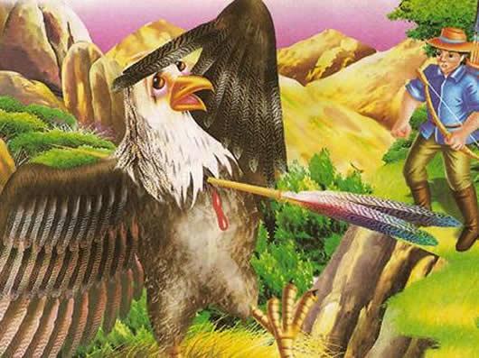 El águila y la flecha Fábulas clásicas con Moralejas