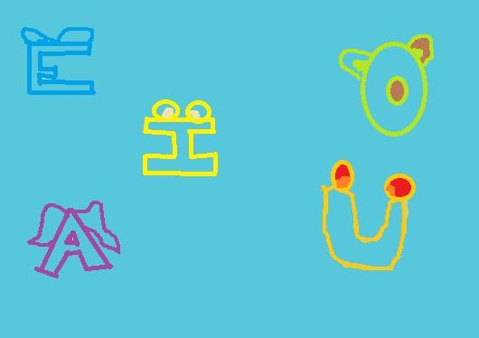 Fichas Educativas Infantiles de Vocales en Mayúscula para Imprimir