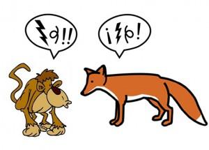 Fábula La zorra y el mono discute sobre su nobleza