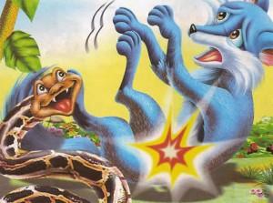 La zorra y la serpiente Fábulas Clásicas de Esopo con Moralejas