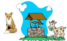 Fábula la zorra y el chivo en el pozo