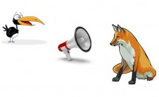 La zorra y el cuervo gritón Fábulas Clásicas de Esopo con Moraleja