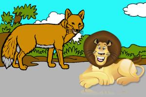 Fábulas La Zorra que nunca había visto un León