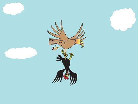 El águila y los gallos Fábulas clásicas con Moralejas