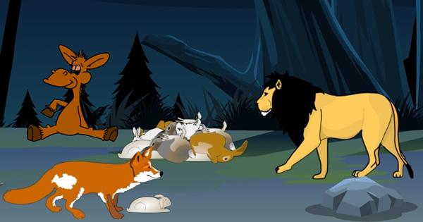 El león, la zorra y el asno
