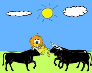 El león y los tres bueyes Fábula clásica de Esopo con moraleja