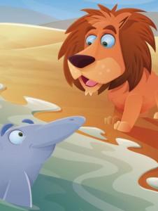 El león y el delfín Fabula clásica de Esopo con moraleja