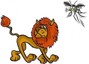 El león y el mosquito volador Fábula clásica de Esopo con moraleja