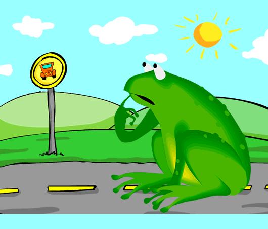 Fábula La rana del pantano y la rana del caminos