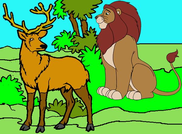 El león y el ciervo