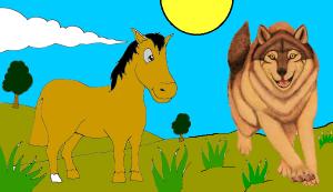 El lobo y el caballo