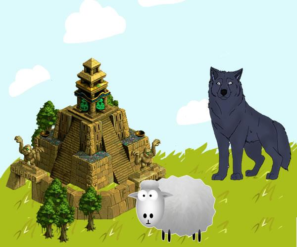 El lobo y el cordero en el templo