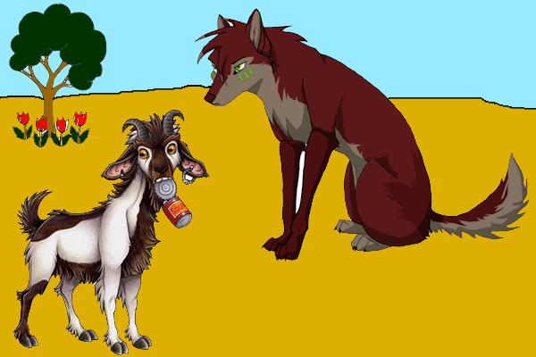 El lobo y la cabra.
