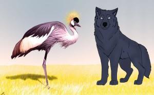 El lobo y la grulla. Fábula clásica de Esopo con moraleja