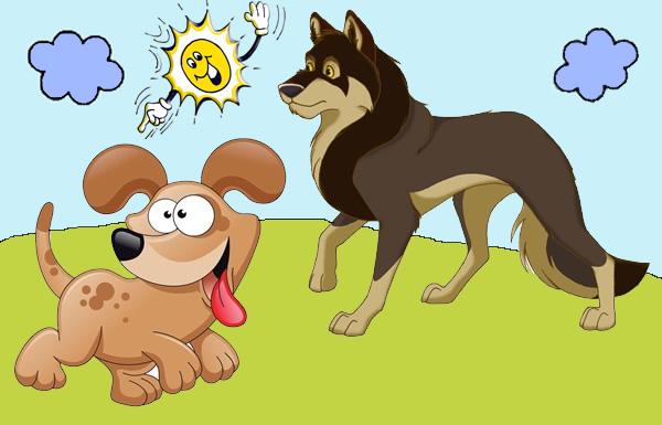 Los lobos reconciliándose con los perros.