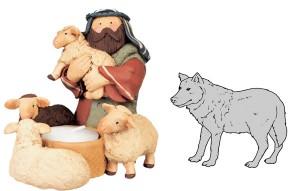 El lobo y el pastor. Fábula clásica de Esopo con Moraleja