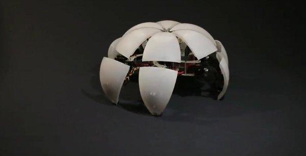 MorpHex. Robot hexápodo que se transforma en una esfera
