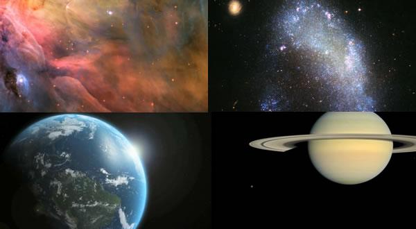 Viaje a través del espacio. Relajante vídeo que muestra el Cosmos