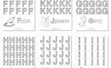 Fichas educativas de letras mayúsculas para imprimir