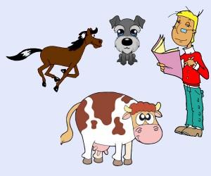 El caballo, el buey, el perro y el hombre
