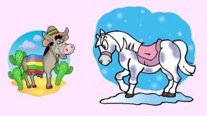 El caballo y el asno. Fábula clásica de Esopo con moraleja