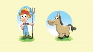 El caballo y el palafrenero. Fábula clásica de Esopo con moraleja