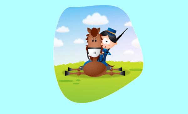 El caballo y el soldado. Fábula clásica de Esopo con Moraleja