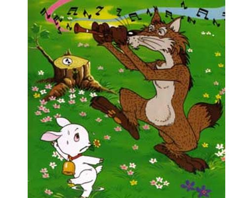 El lobo flautista y el cabrito. Fábula clásica de Esopo con Moraleja