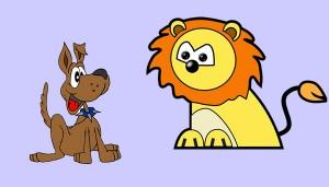 El perro que perseguía al león. Fábula clásica de Esopo con moraleja