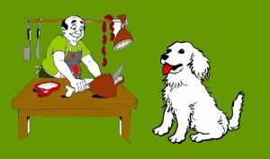 El perro y el carnicero. Fábula clásica de Esopo con moraleja