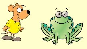 El ratón y la rana. Fábula clásica de Esopo con moraleja