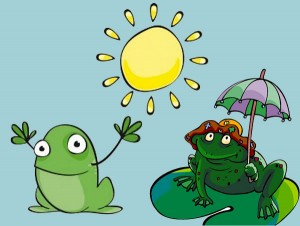 El sol y las ranas. Fábula clásica de Esopo con moraleja