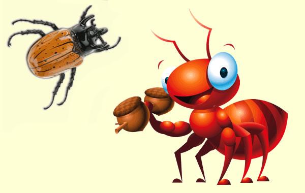 La hormiga y el escarabajo