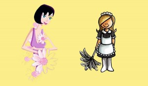 La viuda y las criadas