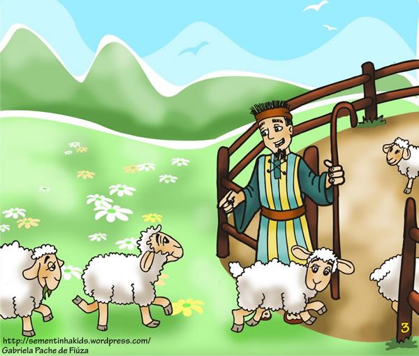 Las cabras monteses y el cabrero. Fábula clásica de Esopo con moraleja