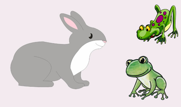 Las liebres y las ranas. Fábula clásica de Esopo con moraleja