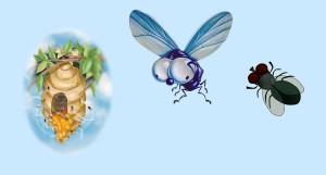 Las moscas. Fábula clásica de Esopo con Moraleja
