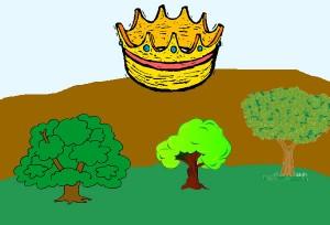 Los árboles que querían rey. Fábula clásica de Esopo con moraleja
