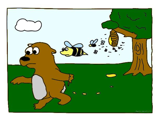 Al que anda entre la miel, algo se le pega. Refranes con su significado