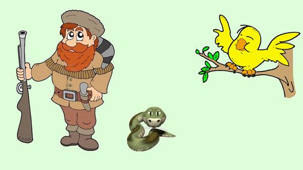 El cazador de pájaros y el aspid