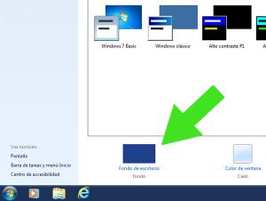 Como cambiar el fondo de pantalla (wallpapers) de Windows 7
